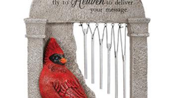 """""""Heaven"""" Cardinal Memorial Garden Chime"""