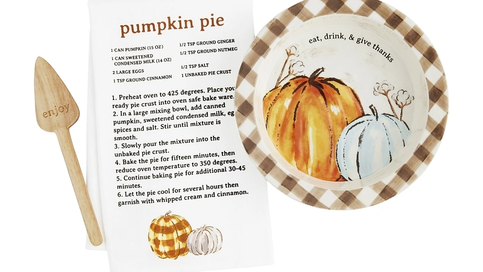 Boxed Pie Plate Set