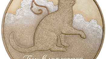 """Cat Live Forever"""" Memorial Stepping Stone"""