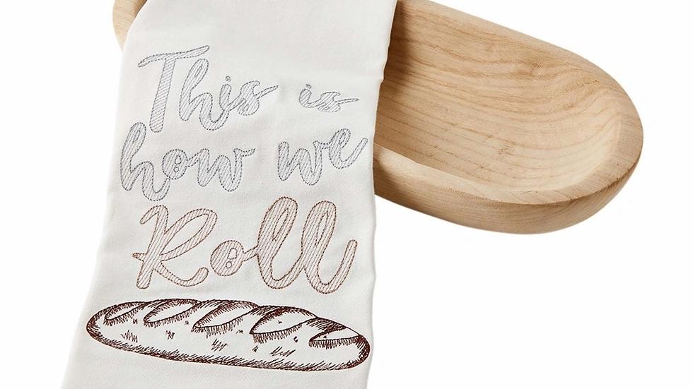 Mud Pie Paulownia Bread Bowl Rolls With Towel