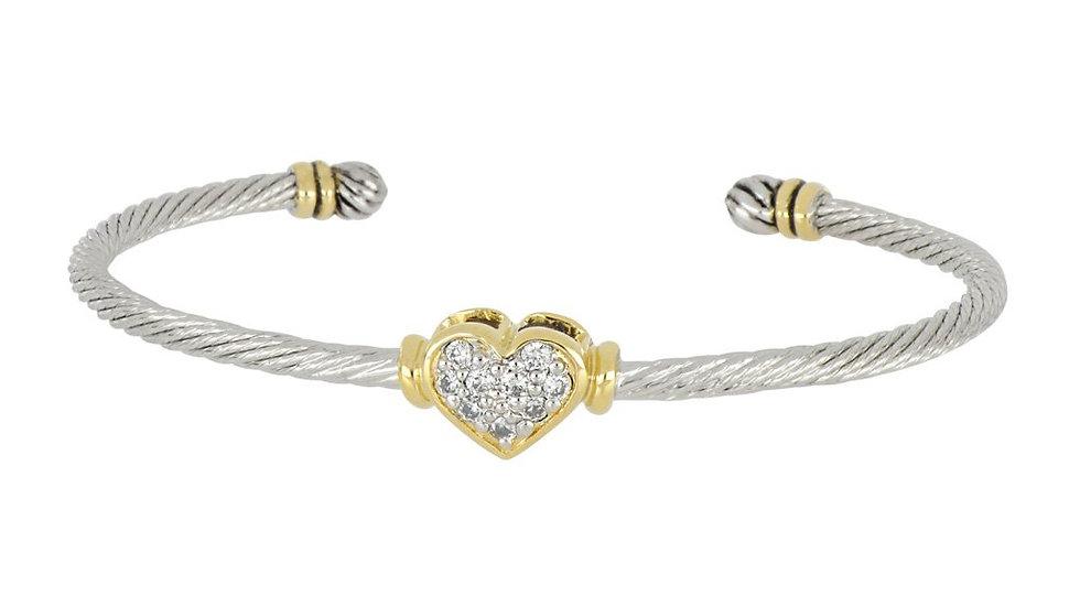 John Medeiros Petite Heart Wire Cuff Bracelet