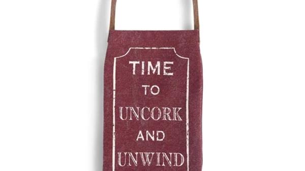 Uncork and Unwind Wine Bottle Bag