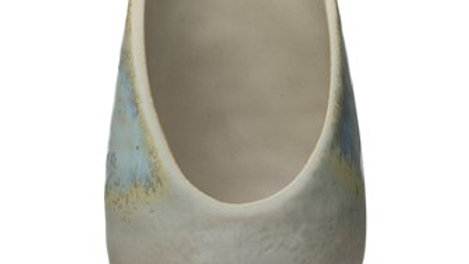 Stoneware Spoon Rest, Blue Reactive Glaze (Each One Will Vary)