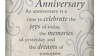 """""""25th Anniversary"""" Easel Plaque"""