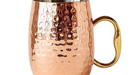 Stainless Steel Moscow Mule Mug w/ Copper Finish