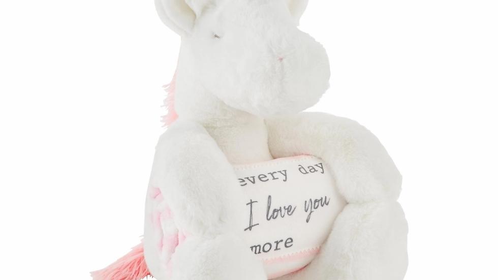 Unicorn Plush with Blanket