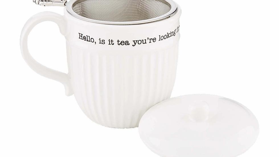 Mud Pie Hello Tea Mug Set