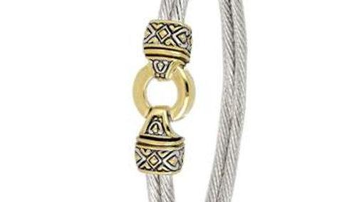 John Medeiros Antiqua Gold Circle Double Wire Bracelet