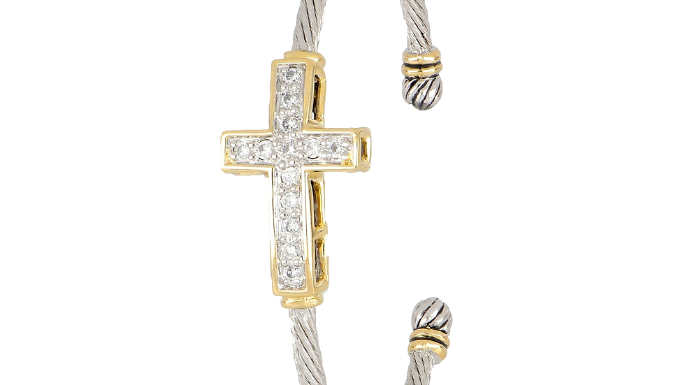 John Medeiros Petite Cross Wire Cuff Bracelet