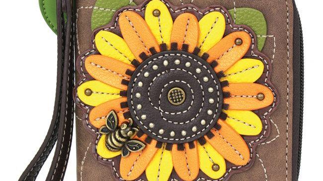 Chala Sunflower Zip-Around Wallet