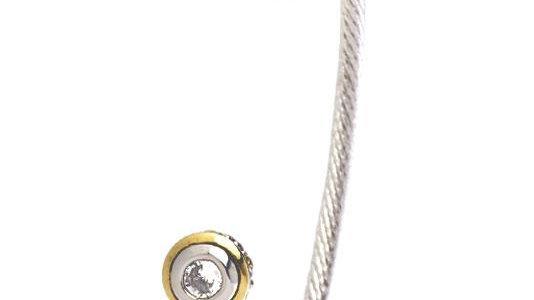 John Medeiros Beijos Two Stone Small Cuff Bracelet Clear