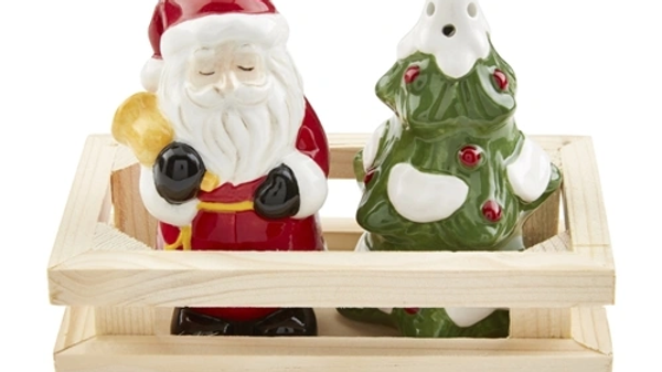 Santa Tree Salt Shaker Set
