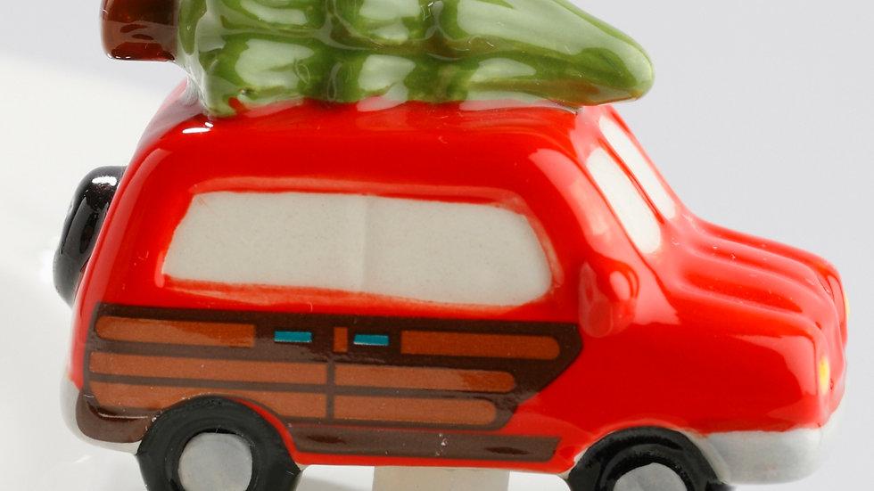 Nora Fleming Woody Wagon with Tree Mini