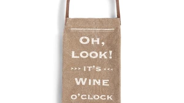 Wine O'Clock Wine Bottle Bag