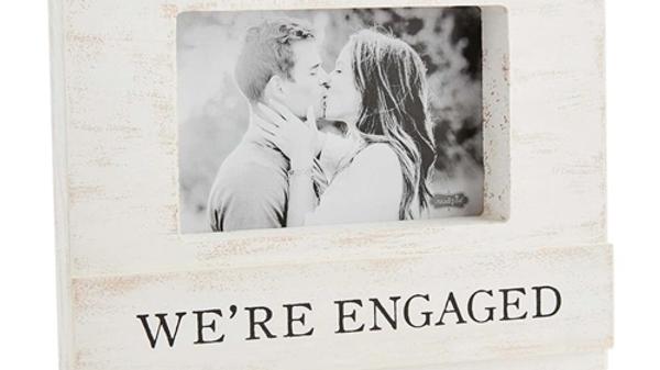 We're Engaged Block Frame