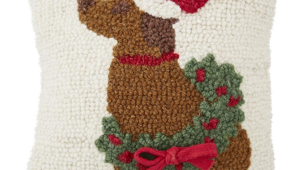 Brown Christmas Dog Hook Pillow