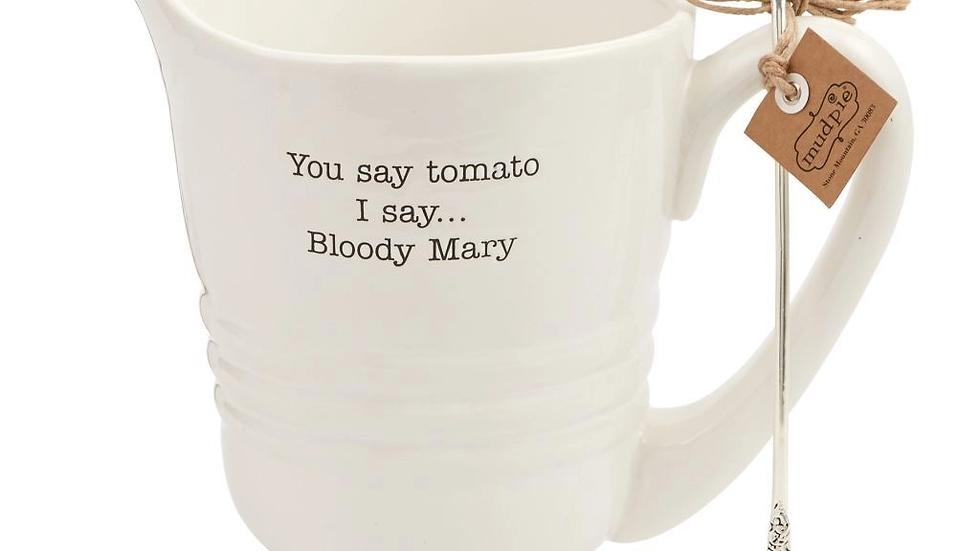 Blood Mary Pitcher Set
