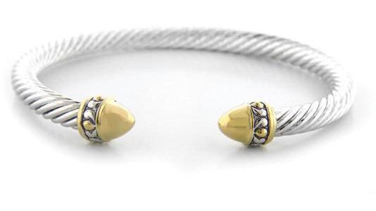 John Medeiros Nouveau Gold Dome Bullet Wire Bracelet