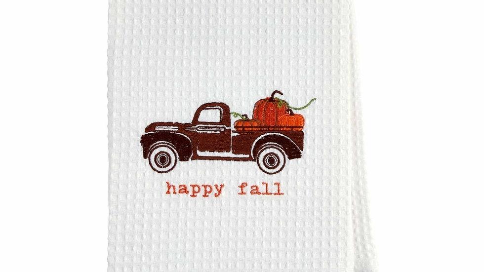 Happy Fall Waffle Towel