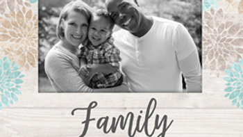 Family Picture Frame 4x6