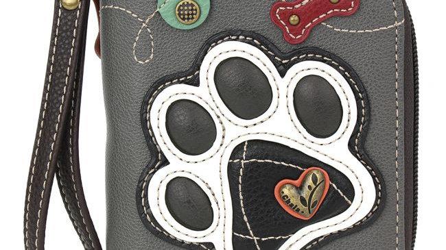 Chala Pawprint Zip-Around Wallet