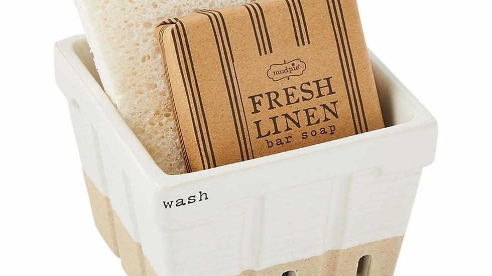 Wash Soap and Sponge Basket