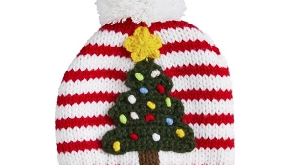 Mud Pie Christmas Tree Knit Hat