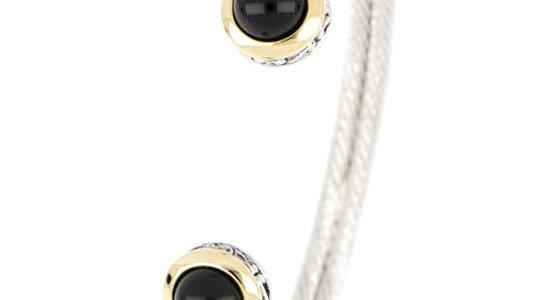 John Medeiros Black Onyx Cuff Bracelet