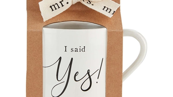 Mud Pie I Said Yes Mug