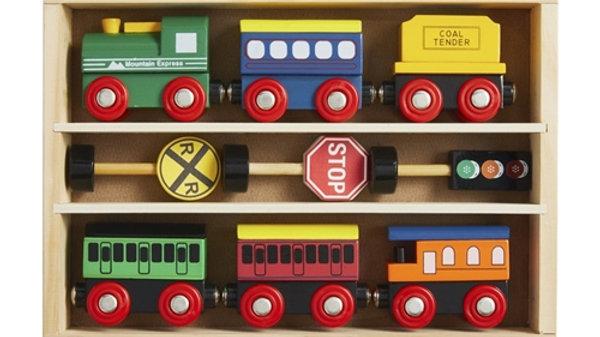 Mud Pie Boxed Wood Train Set