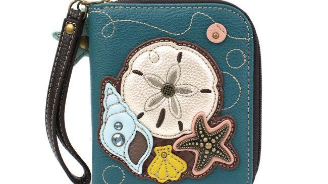 Chala Sand Dollar Zip-Around Wallet