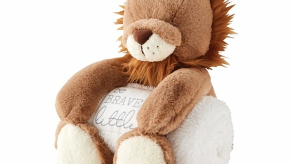 Lion Plush with Blanket