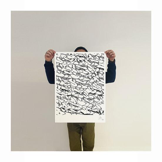 "EGO CAMO PATTERN ""Black & White Edition"""
