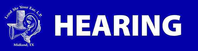 Hearing Aids in Midland, TX  | Lend Me Your Ear Logo