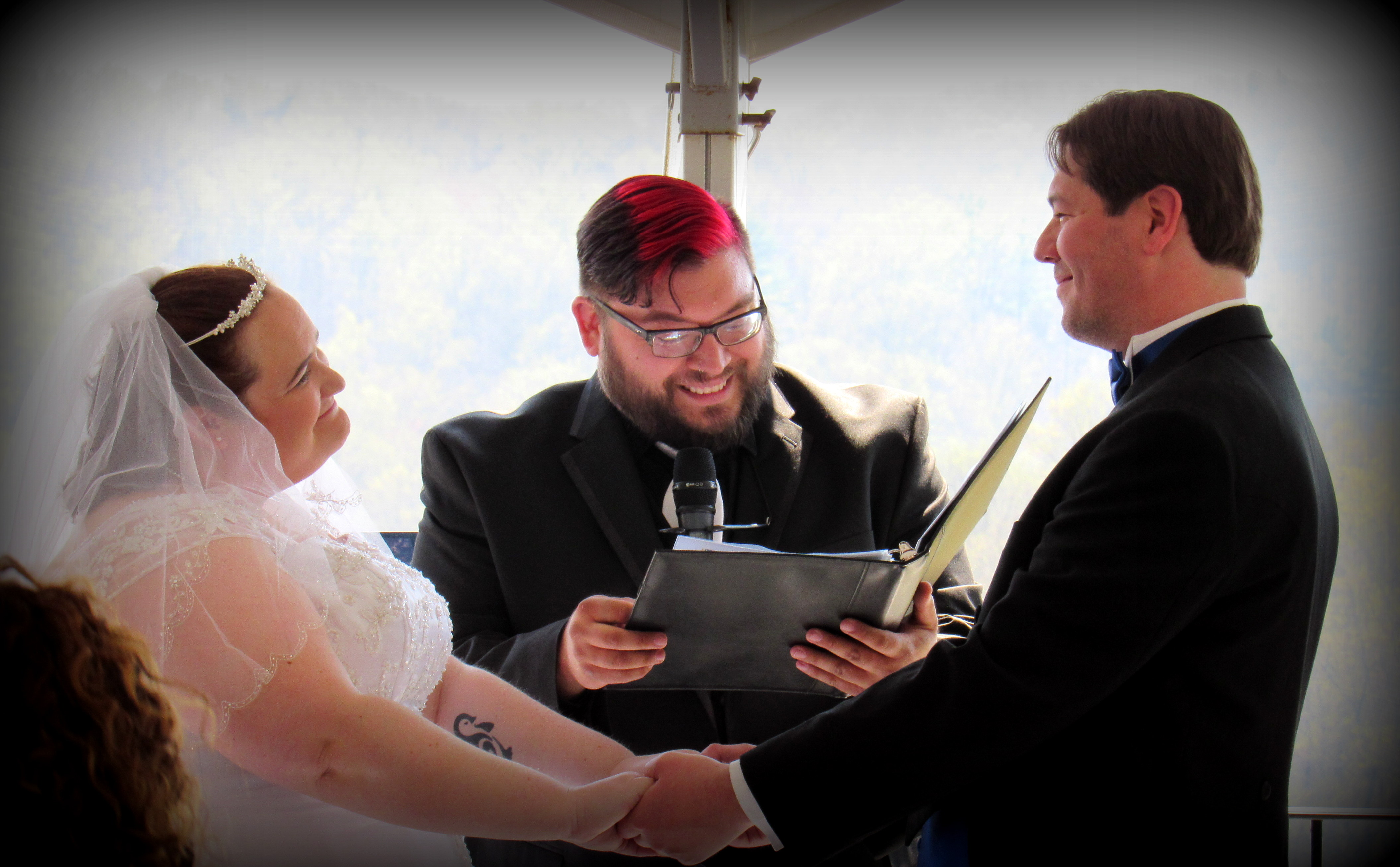Being the officiant makes me happy!