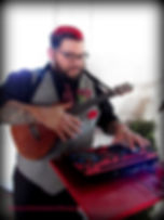 red haired dj