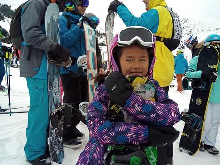 Snowboarding in Grandvalira in February 2020