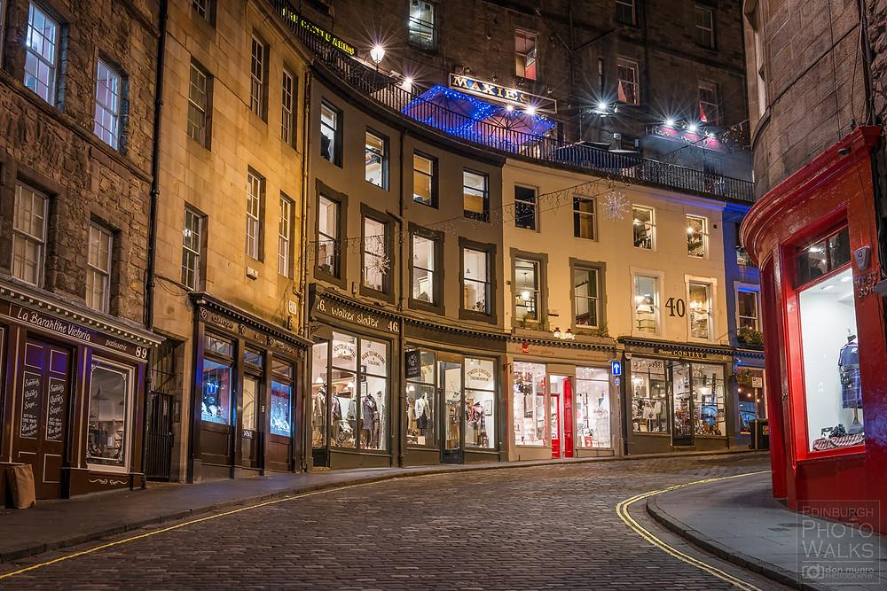 TOp lieu instagrammable à Edimbourg avec la rue pour Potterhead, la magique Victoria street