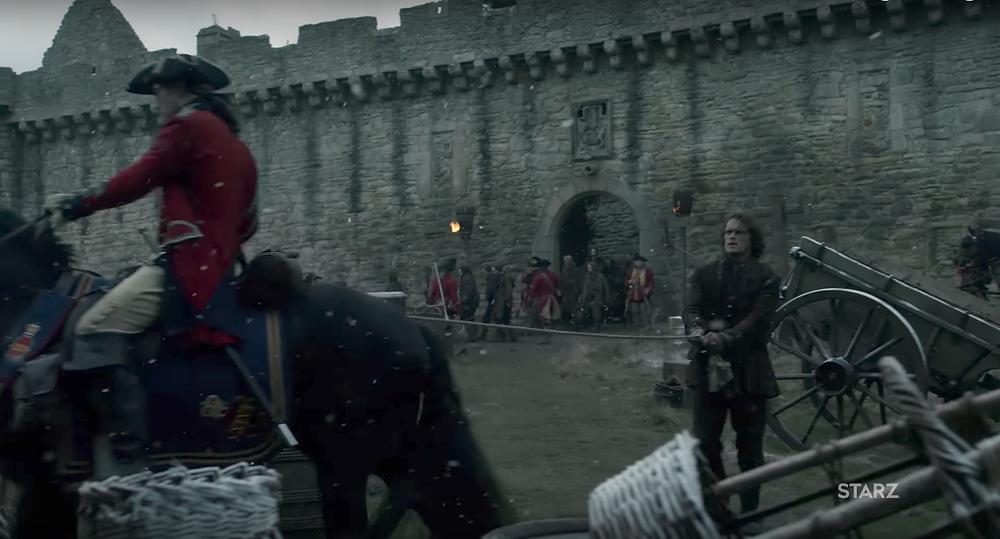 Lieu de tournage Outlander saison 3 au château de Craigmillar