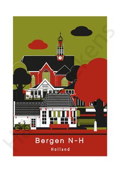 poster aangezicht centrum Bergen N-H cc.