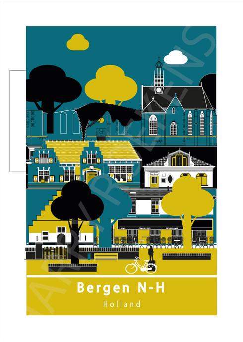 poster Bergen N-HBBCCDDeefffFFDDAABBGGGf