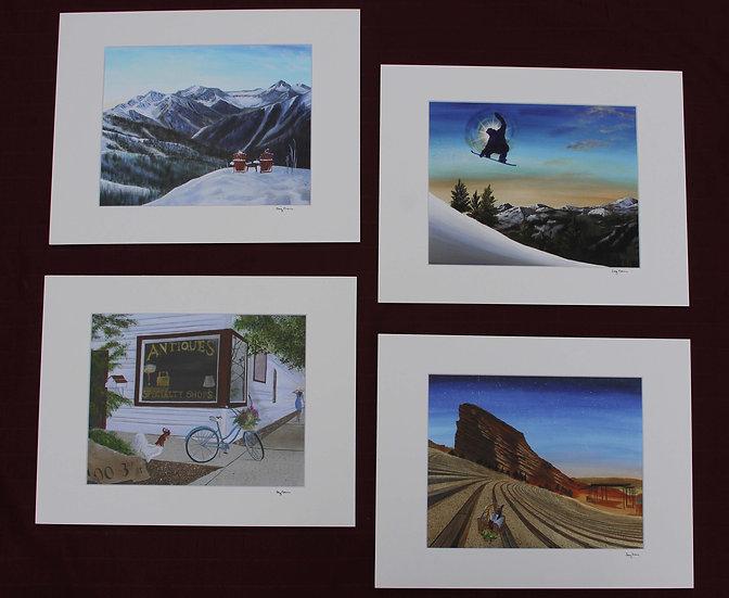 Giclee Prints 8 X 10 prints in 11 X 14 Matte
