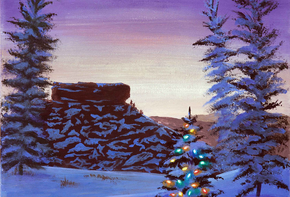 Castle Rock Christmas  Greeting Card