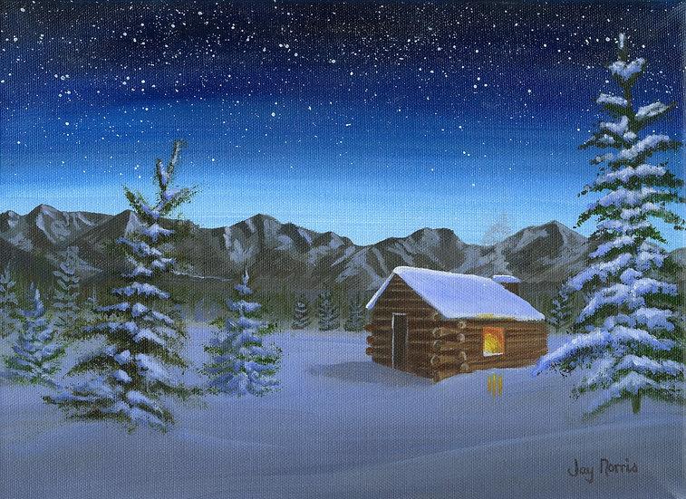 Estes Park December Night  (Original has been sold)