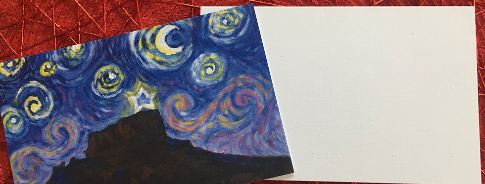 Castle Rock Starry Night Greeting Card