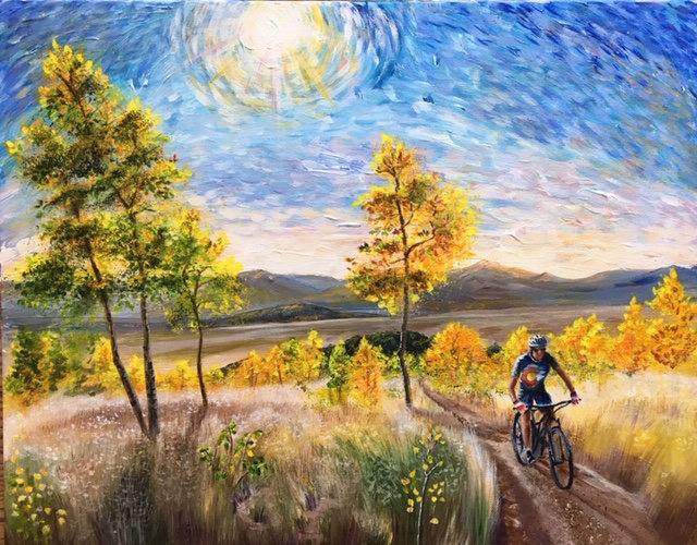 Autumn Ride 11 X 14 Giclée