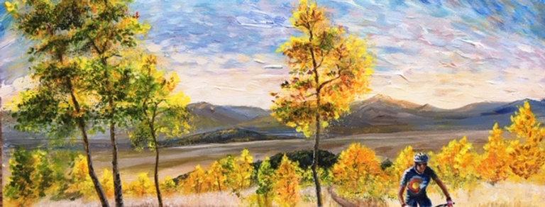 Autumn Ride Original Painting 16 X 20 Framed