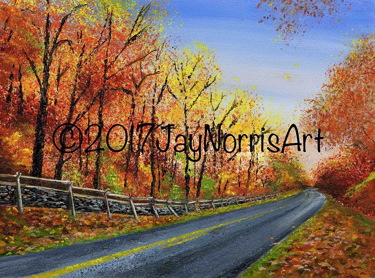 Blue Ridge Parkway at Dusk Giclée Print (Original has been sold.)