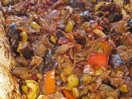 Auberginen-Paprika Wunder ODER Schmorgemüse wie aus 1001 Nacht