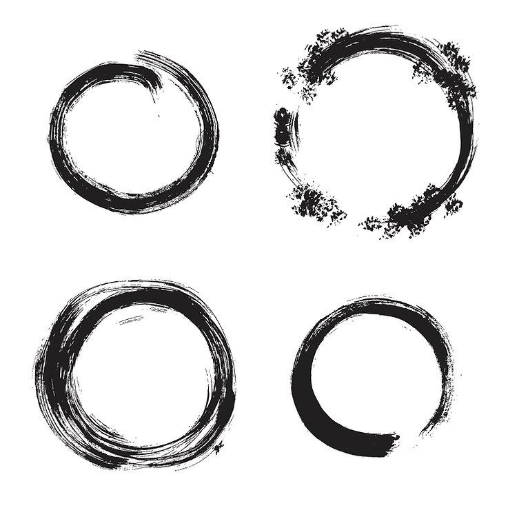 Japanese zen circles